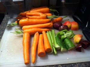 vegetables for our juices