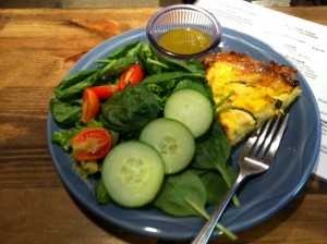 yum!  salad and quiche at the cafe