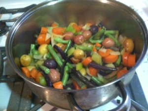 9) Adding the other vegetables