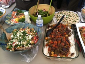 Wonderful salads and Ethiopian Beef Stew