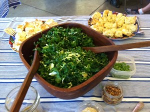 "Kale Salad and Onion Tart from ""Vegetable Literacy"""
