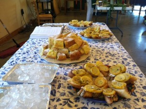 Squash tartines and lemon caraway cake