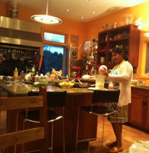 the chef in the kitchen